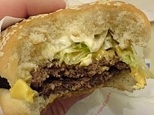 A Burger King Big King sandwich