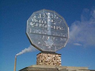 Big Nickel - Big Nickel on original pedestal