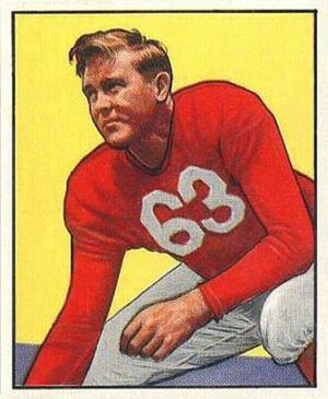 Bill Blackburn - Blackburn on a 1950 Bowman football card