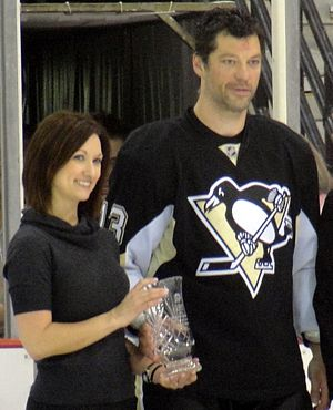 Bill Guerin - Guerin is honored as the Penguins nominee for the Masterton Trophy during a pregame ceremony in April 2010.