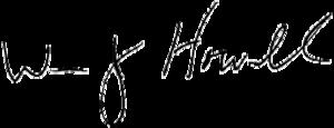 William J. Howell - Image: Bill Howell signature
