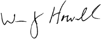 William J. Howell - Image: Bill Howell signature
