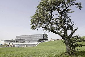 University of Lausanne - One of the Biopôle buildings in Épalinges (2010). More Biopôle buildings were built there since then.