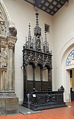 Bishop's seat by Jörg Syrlin (Choir stalls in Ulm Minster) - replica in Pushkin museum 01.jpg