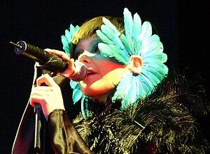 Art pop - Björk performing in 2003 at Hurricane Festival.