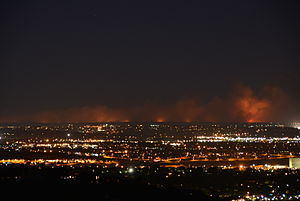Black Forest Fire - The Black Forest fire at 9:30 p.m. on the night of June 11, 2013