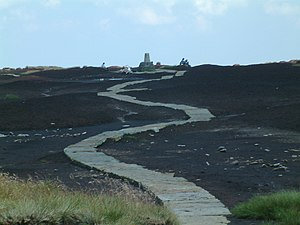 Pennine Way - Paved surface of the Pennine Way on Black Hill