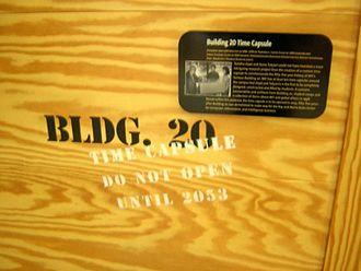 Building 20 - Image: Bldg 20 time capsule