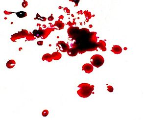 English: blood, human, splatter, drops