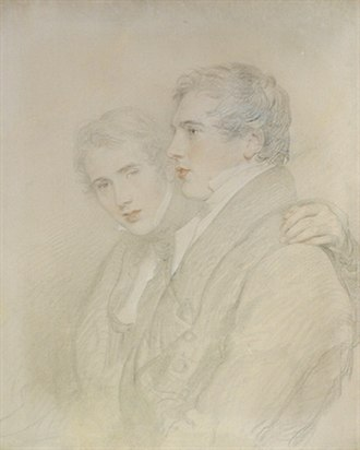 Andrew Bloxam - Portrait of Andrew Bloxam and Richard Rowland Bloxam by their uncle Sir Thomas Lawrence, prior to their voyage in 1824