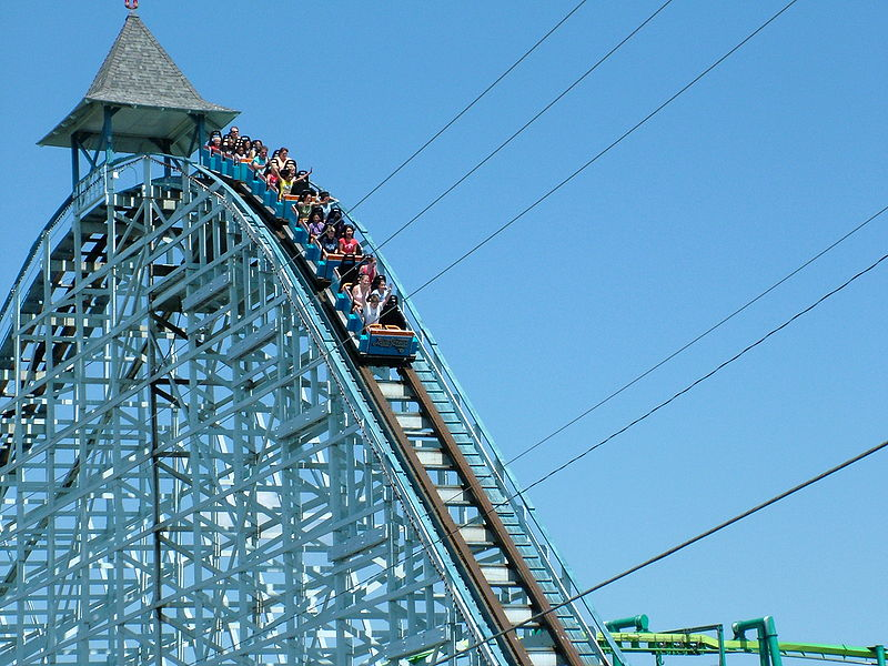 Blue Streak. From Cedar Point Roller Coaster Guide: Advice from a Local