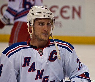 Ryan Callahan - Callahan as captain of the Rangers in December 2011. He was named to the position several months prior in September 2011.