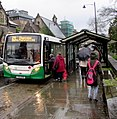 Boarding the Chepstow bus in Pontypool - geograph.org.uk - 4767288.jpg
