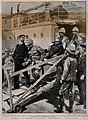 Boer War; a wounded Boer General prisoner being taken off th Wellcome V0015559.jpg