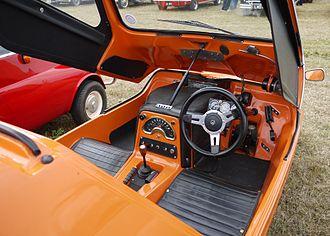 Bond Bug - Bond Bug (interior), with the original bright orange tangerine colour on exterior.