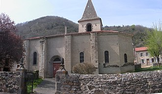 Bonnac, Cantal - The church in Bonnac