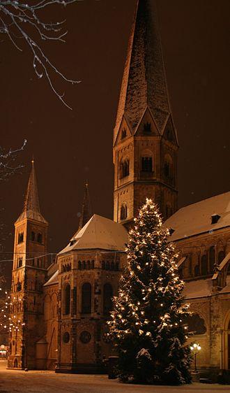 Bonn Minster - winter view
