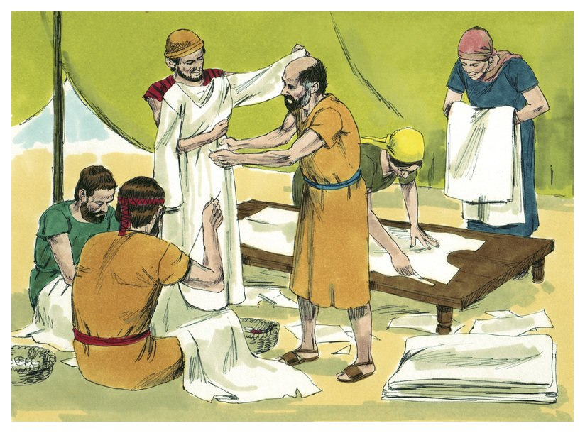 Book of Exodus Chapter 29-1 (Bible Illustrations by Sweet Media)
