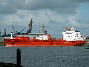 Bow Faith - IMO 9114232 docked at the Botlek harbour, Port of Rotterdam, Holland 29-Apr-2006.jpg