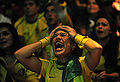 Brazil fans in Johannesburg react to Brazil's loss to Holland in World Cup quarterfinals 2010-07-02 2.jpg