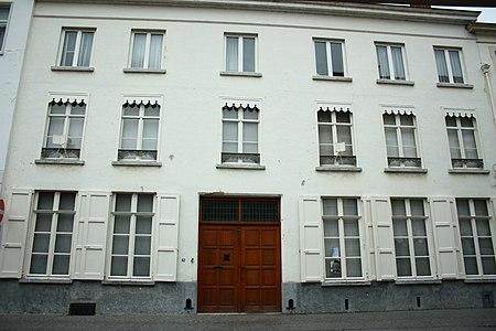 Breedhuis dubbelhuistype, ca. 1800 - Moerstraat 62 - Brugge - 29501.JPG
