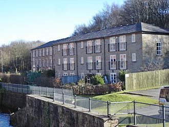 Eagley Mills - Bridge Mill (at left of picture)