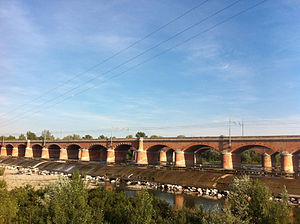 Calendasco - Image: Bridge on the Trebia