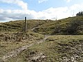 Bridleway crossing on the slope of Blackcap - geograph.org.uk - 1769476.jpg
