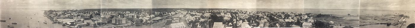 Vista panoràmica de Belize City, c. 1914