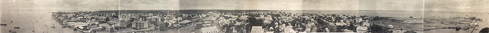 Panoramic view of Belize City, c. 1914