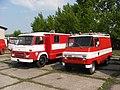 Brno, Řečkovice, depozitář TMB, hasiči - Avia a FSC Żuk (01).jpg