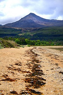 Goat Fell mountain in the United Kingdom