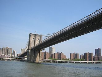 Two Bridges, Manhattan - Brooklyn Bridge and housing projects in Two Bridges