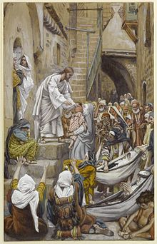 Brooklyn Museum - All the City Was Gathered at His Door (Toute la ville étant à sa porte) - James Tissot - overall.jpg