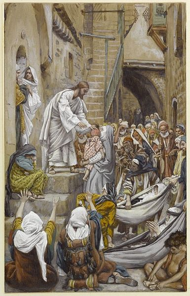 File:Brooklyn Museum - All the City Was Gathered at His Door (Toute la ville étant à sa porte) - James Tissot - overall.jpg