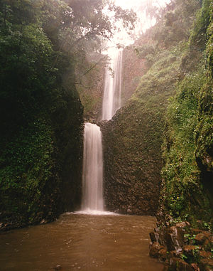 The Amazing Race 9 - Teams traveled to the outskirts of Brotas where a choice of Detour tasks required teams to hike to and climb a waterfall.