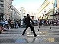 Bucuresti, Romania. Teatrul ODEON. (B-II-m-B-19854) B-FIT IN THE STREET 2018. Bubble Street Cirkus. Jongleorul si echilibristul Juriy Longhi. (6).jpg