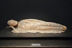 Buddha in Nirvana (Death of Sakyamuni), Kamakura period, 13th century, wood - Tokyo National Museum - DSC05096.jpg