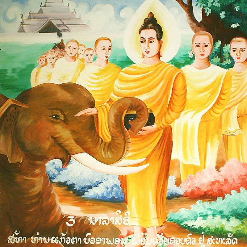 Buddha with the Elephant Nalagiri.jpg