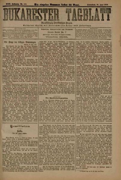File:Bukarester Tagblatt 1909-06-19, nr. 133.pdf