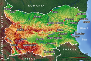 Map of Bulgaria.