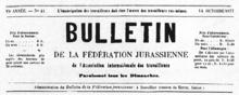 Boletín de laFederación del Jura.