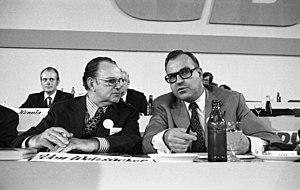 Richard Stücklen - Stücklen, on the left, with Helmut Kohl at a CDU conference in 1972
