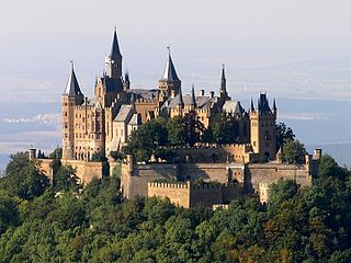 ancestral seat of the imperial House of Hohenzollern in the Swabian Alps of central Baden-Württemberg, Germany