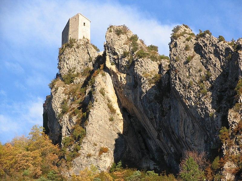 Burg in Entrevaux / Frankreich