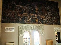 Yeserías y mural de Vela Zanetti