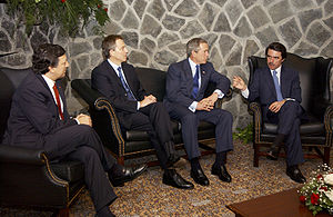 Bush, Barroso, Blair, Aznar at Azores.jpg