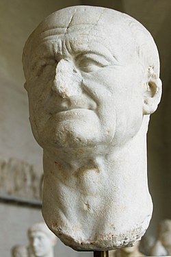 Bust of Vespasian (loan from Ny Carlsberg Glyptotek) - Glyptothek - Munich - Germany 2017.jpg