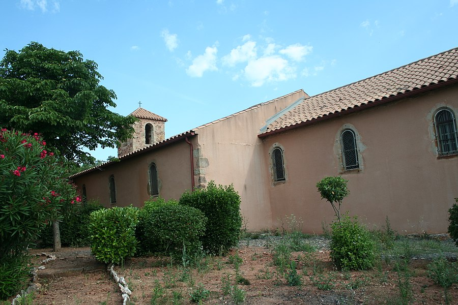 Cébazan (Hérault) - église Saint-Martin