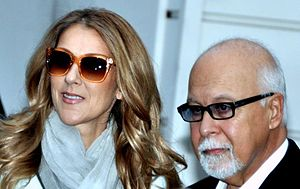 René Angélil - Céline Dion and Angélil in 2012
